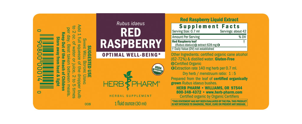 Herb Pharm® Red Raspberry - 1 oz - Christopher's Herb Shop