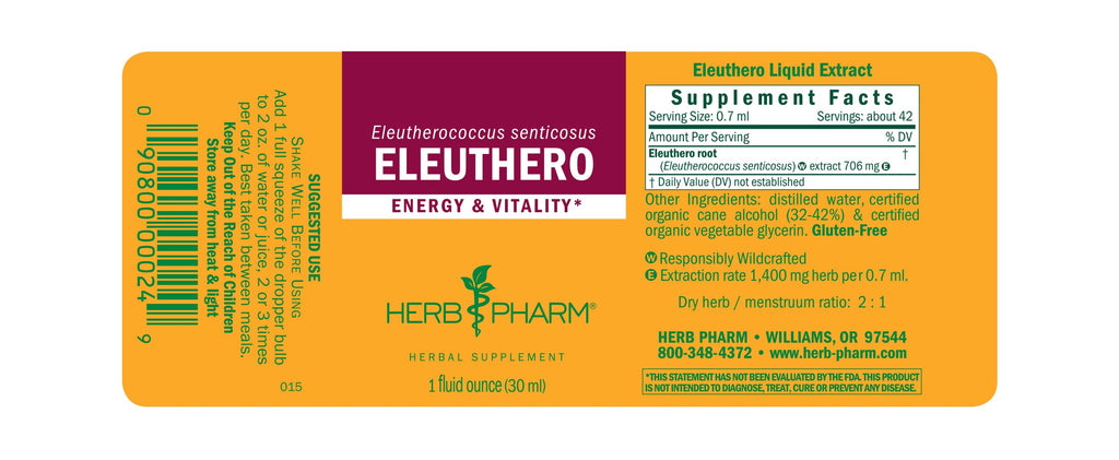 Herb Pharm® Eleuthero - 1 oz - Christopher's Herb Shop
