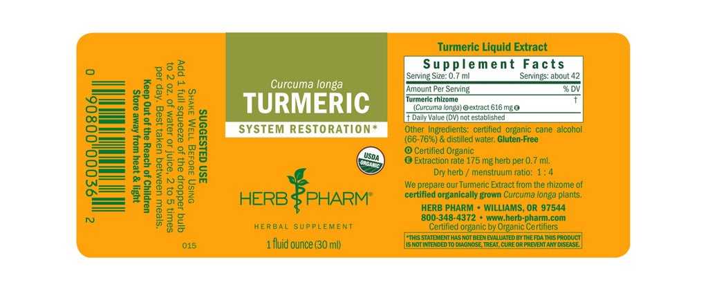 Herb Pharm® Turmeric Extract - Christopher's Herb Shop