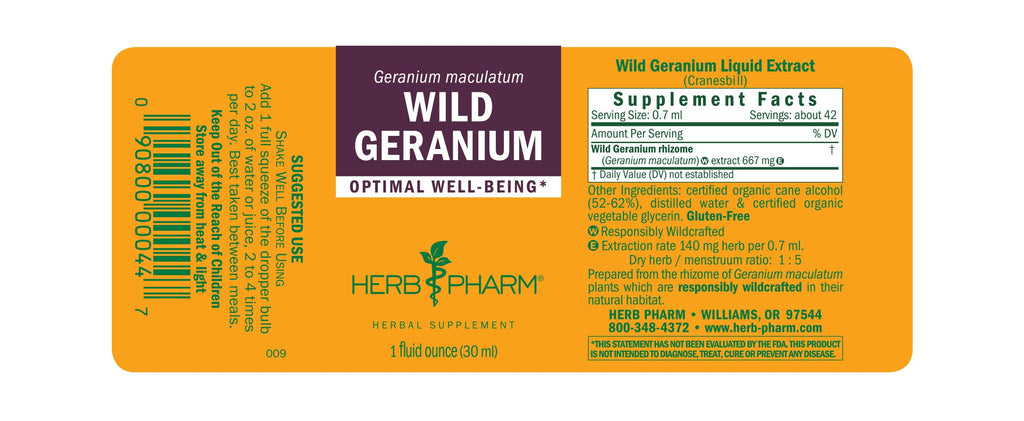 Wild Geranium - 1 oz - Christopher's Herb Shop