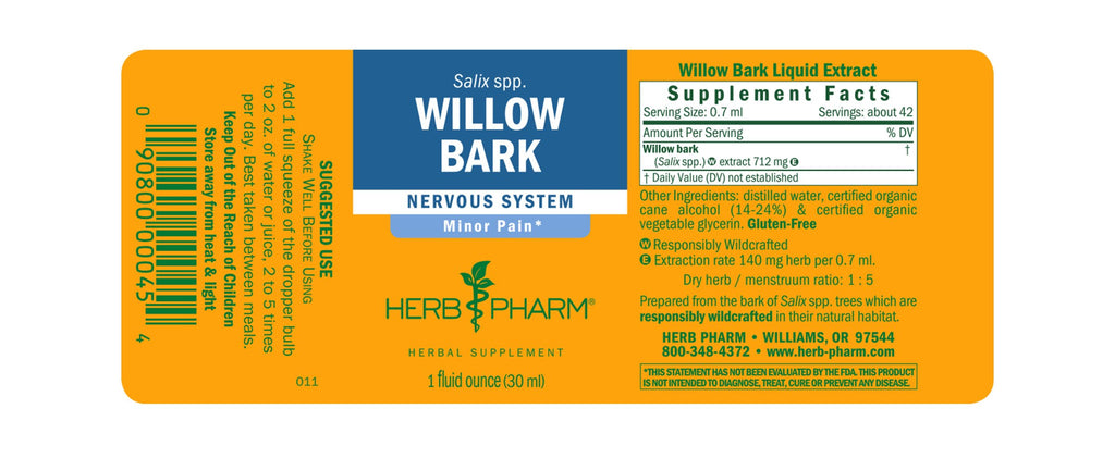Willow Bark - 1 oz - Christopher's Herb Shop