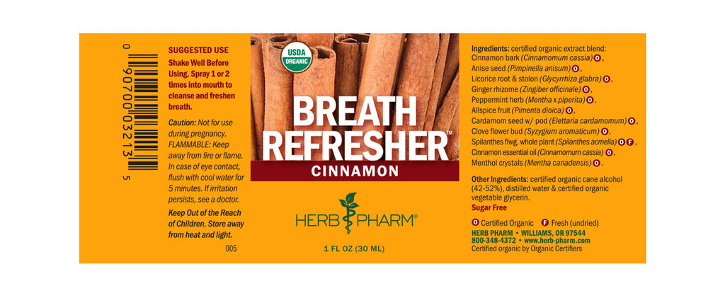 Herb Pharm® Breath Refresher™ Cinnamon - 1 oz - Christopher's Herb Shop