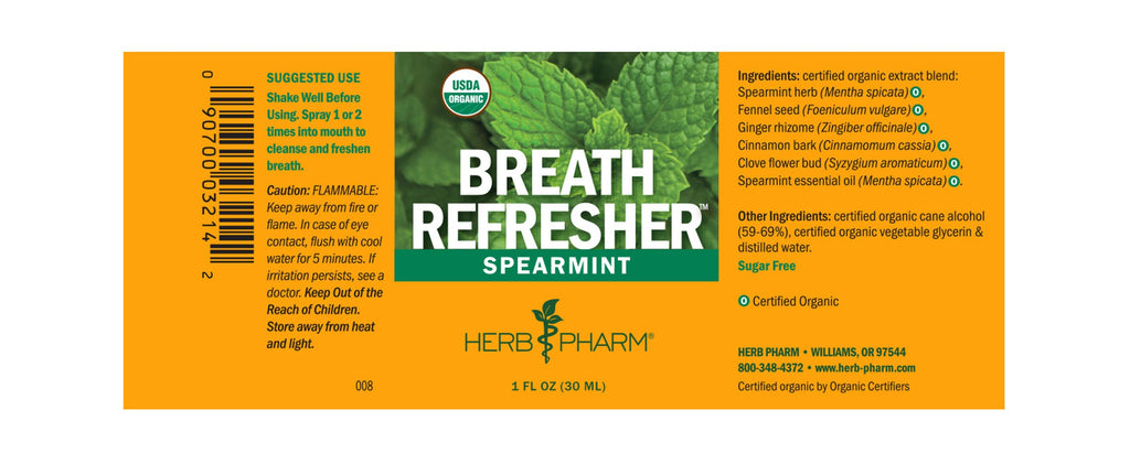 Herb Pharm® Breath Refresher™ Spearmint - 1 oz - Christopher's Herb Shop