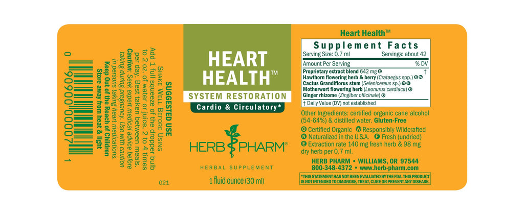 Herb Pharm® Heart Health™ - 1 oz - Christopher's Herb Shop