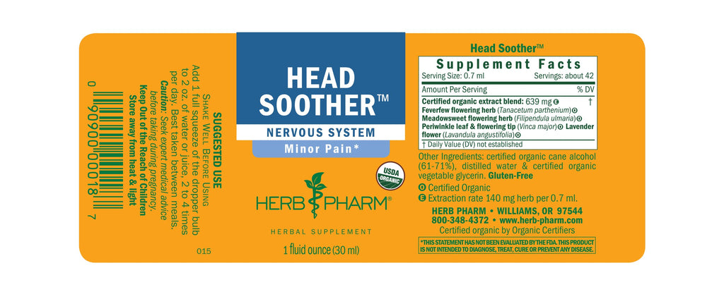 Herb Pharm® Head Soother™ 1 oz - Christopher's Herb Shop