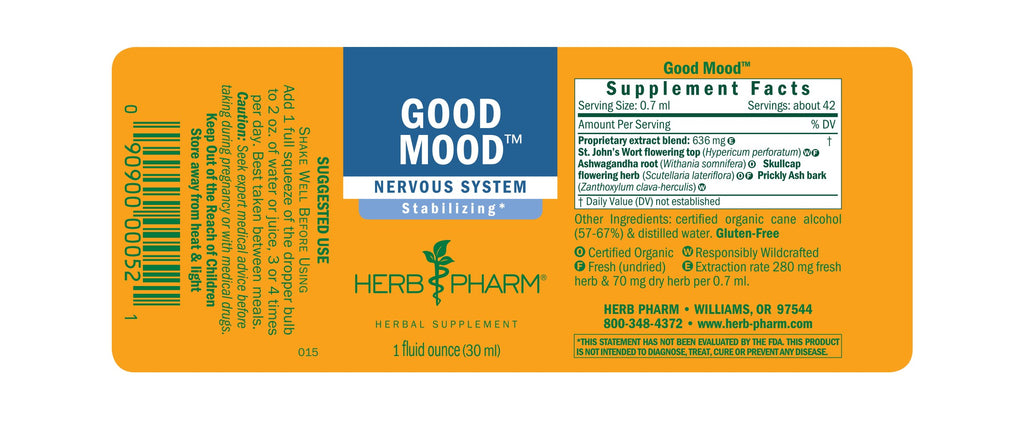 Herb Pharm® Good Mood™ - 1 oz - Christopher's Herb Shop