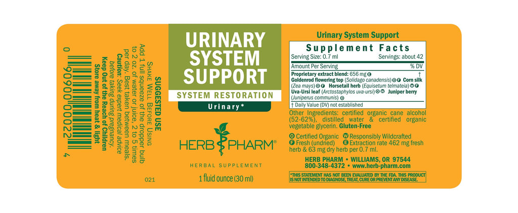 Herb Pharm® Urinary System Support - 1 oz - Christopher's Herb Shop