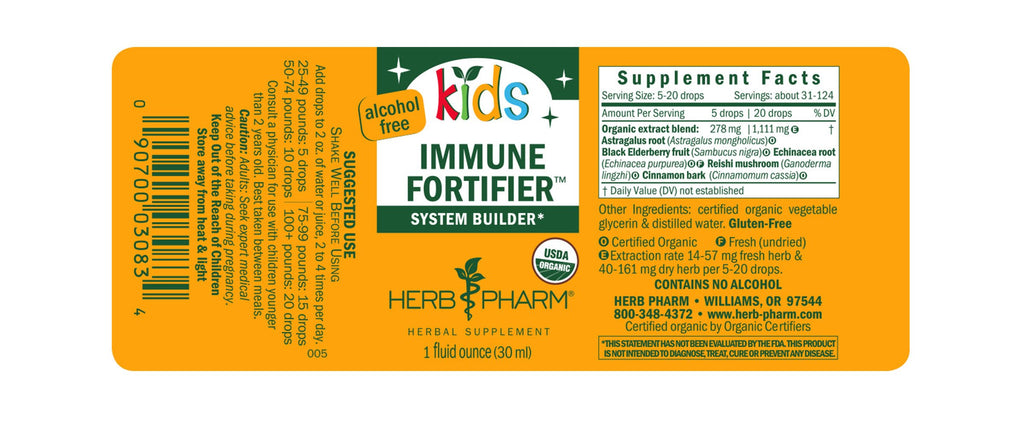 Herb Pharm®Kids Immune Fortifier™ - 1 oz - Christopher's Herb Shop
