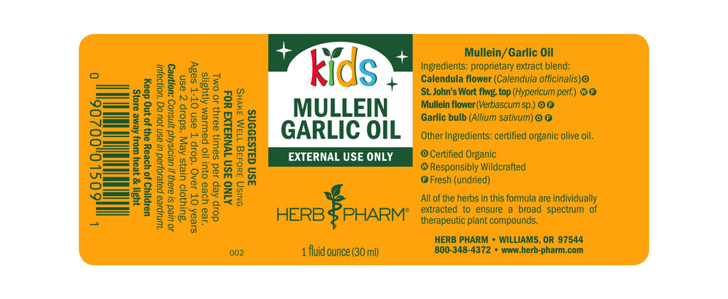 Herb Pharm® Kids Mullein Garlic Oil - 1oz - Christopher's Herb Shop