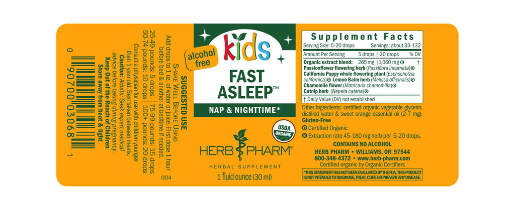 Herb Pharm® Kids Fast Asleep™ - 1 oz - Christopher's Herb Shop