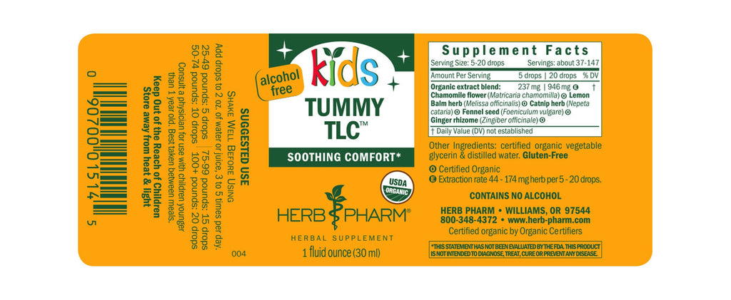 Herb Pharm® Kids Tummy TLC™ - 1 oz - Christopher's Herb Shop