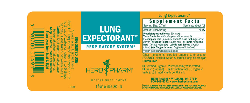 Herb Pharm® Lung Expectorant™ - 1 oz - Christopher's Herb Shop