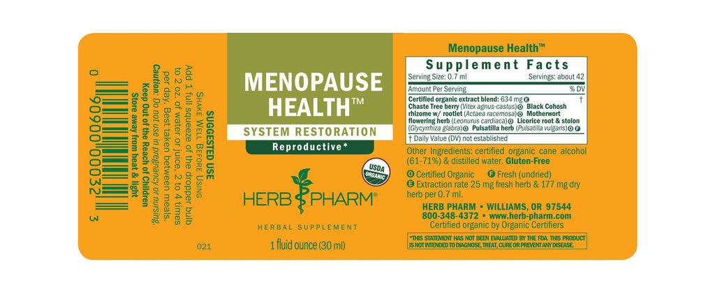 Herb Pharm® Menopause Health™ - 1 oz - Christopher's Herb Shop