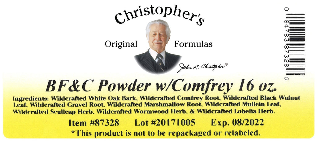 BF&C - Bulk 1 lb. Powder - Christopher's Herb Shop
