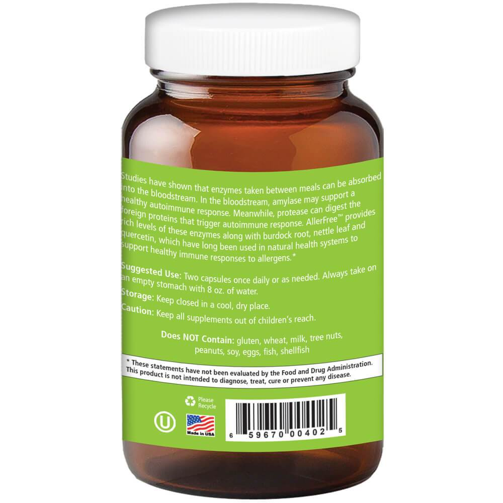 AllerFree ™ – Natural Allergy Relief 60 Vegi-Caps - Christopher's Herb Shop