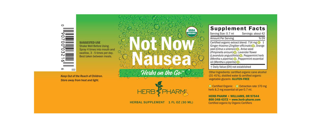 Herb Pharm® Herbs on the Go: Not Now Nausea™ - Christopher's Herb Shop