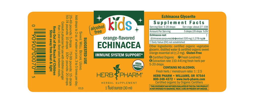 Herb Pharm® Kids Echinacea - 1 oz - Christopher's Herb Shop