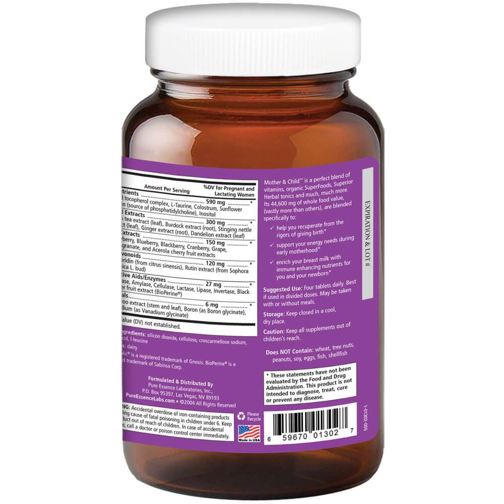 Mother & Child™ 120 Tablets - Christopher's Herb Shop