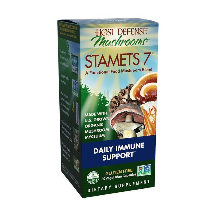 Host Defense® Stamets 7® - 60 Vegetarian Capsules - Christopher's Herb Shop