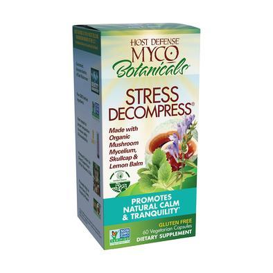 Host Defense® MycoBotanicals® Stress Decompress® - 60 Vegetarian Capsules - Christopher's Herb Shop