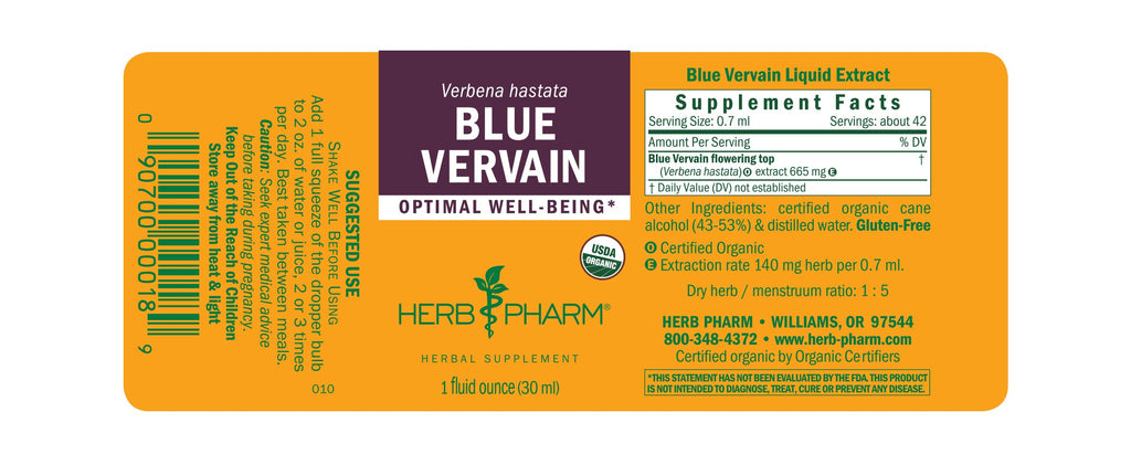 Herb Pharm® Blue Vervain - 1 oz - Christopher's Herb Shop