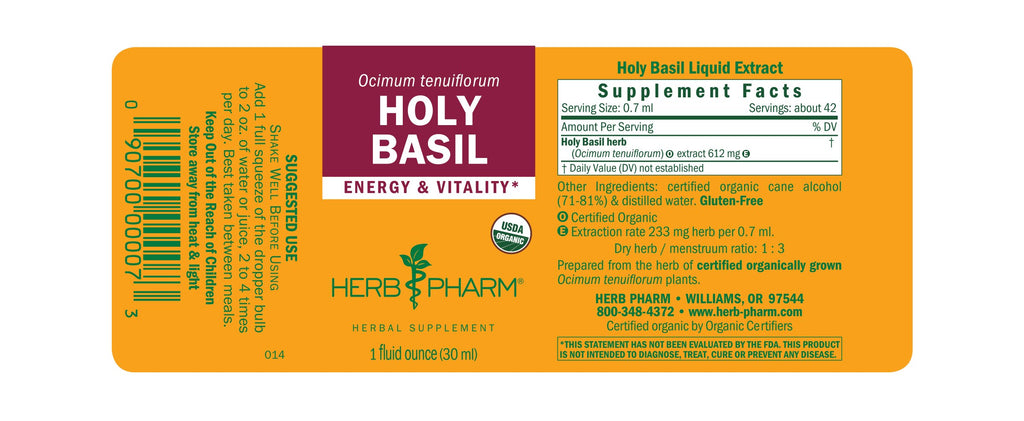 Herb Pharm® Holy Basil - 1oz - Christopher's Herb Shop