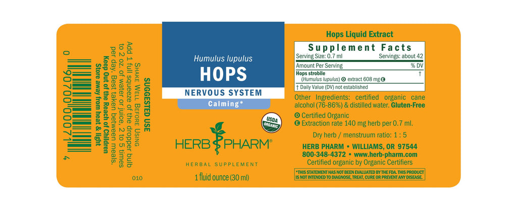 Herb Pharm® Hops - 1oz - Christopher's Herb Shop