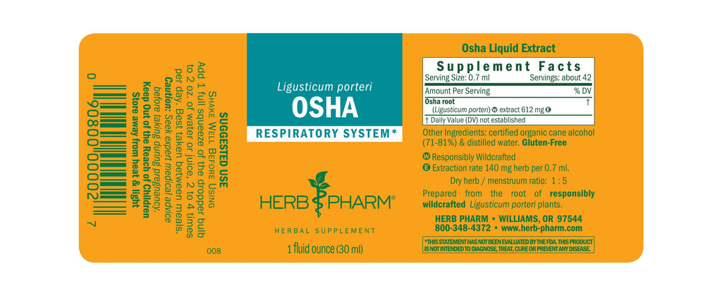 Herb Pharm® Osha - 1 oz - Christopher's Herb Shop