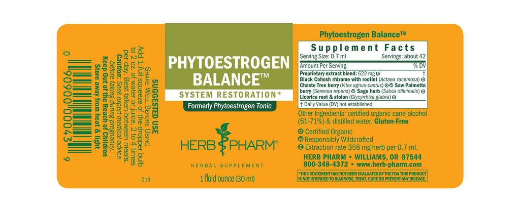 Herb Pharm® Phytoestrogen Balance™ - 1 oz - Christopher's Herb Shop
