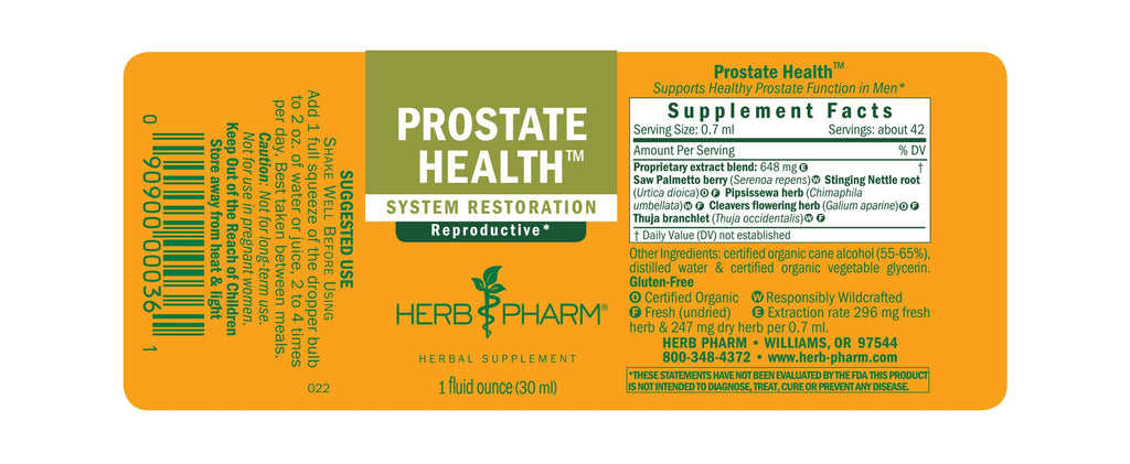 Herb Pharm® Prostate Health™ - 1 oz - Christopher's Herb Shop