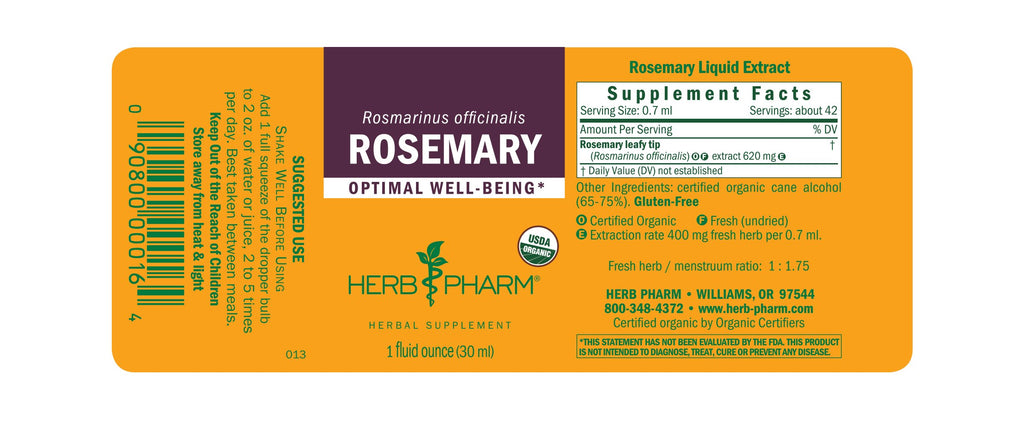 Herb Pharm® Rosemary - 1 oz - Christopher's Herb Shop