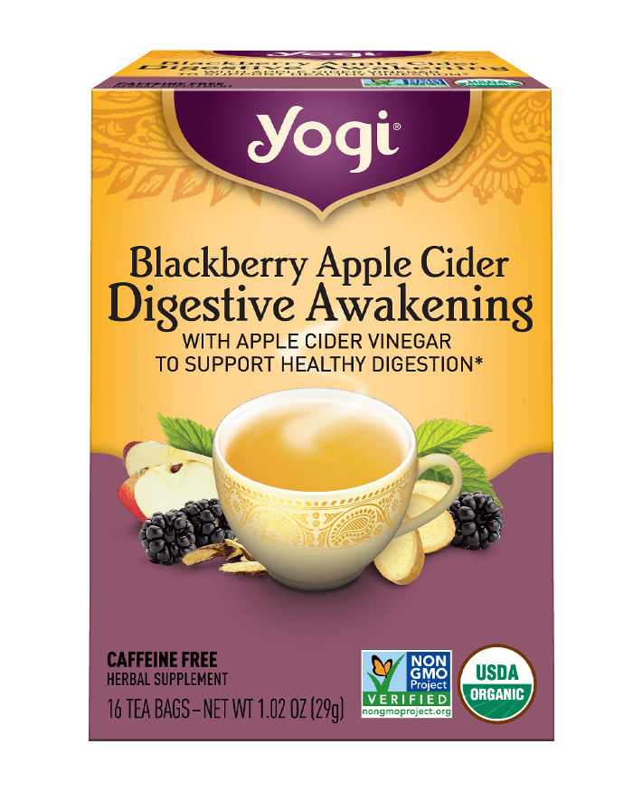 Yogi® Blackberry Apple Cider Digestive Awakening Tea - Christopher's Herb Shop