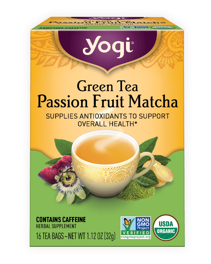 Yogi® Green Tea Passion Fruit Matcha Tea - Christopher's Herb Shop