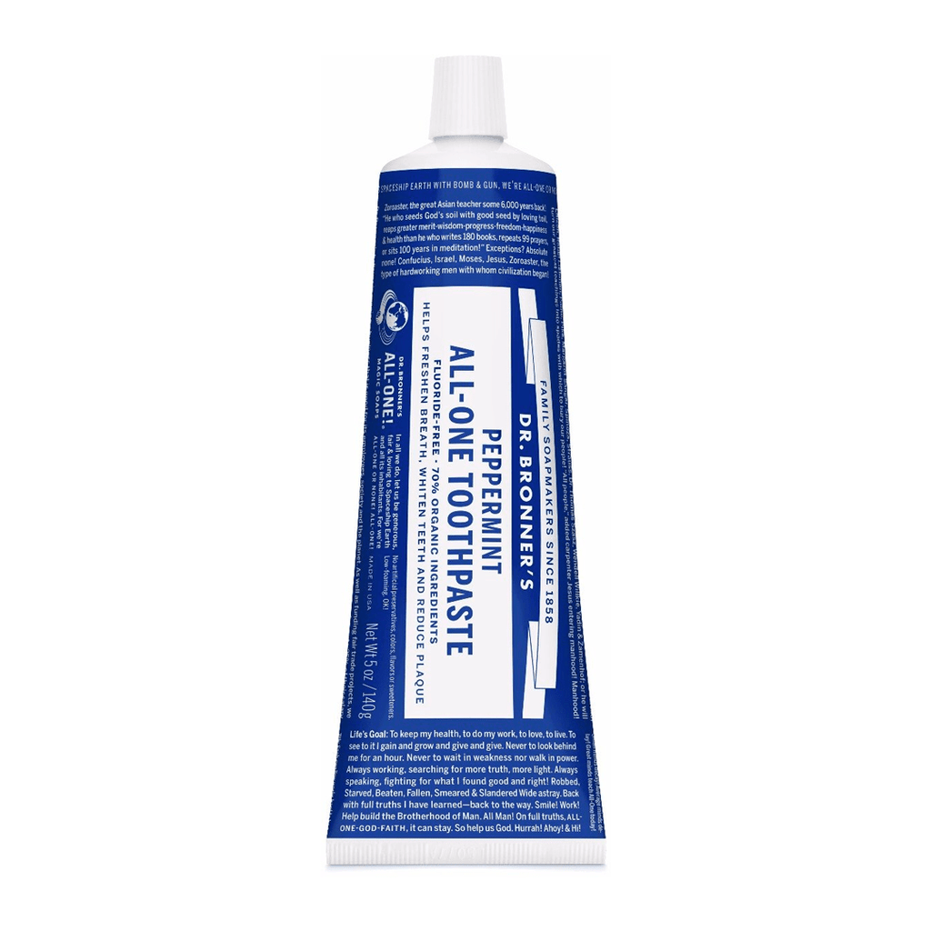 Dr. Bronnner's Peppermint All-One Toothpaste - 5 oz. - Christopher's Herb Shop