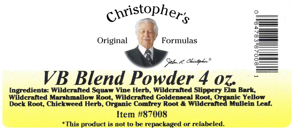 Vaginal Bolus Formula - Bulk 4 oz. Powder - Christopher's Herb Shop