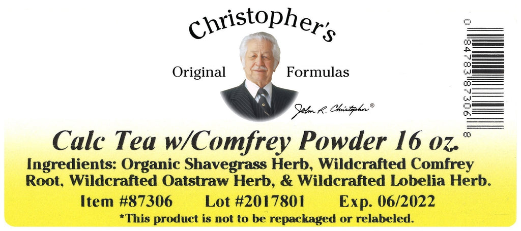 Calc Tea w/ Comfrey (Herbal Calcium Formula) - Bulk 1 lb. Powder - Christopher's Herb Shop
