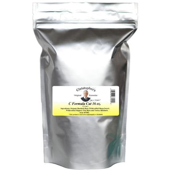 "C Formula ""Essiac Tea"" - Bulk 1 lb. Cut - Christopher's Herb Shop"