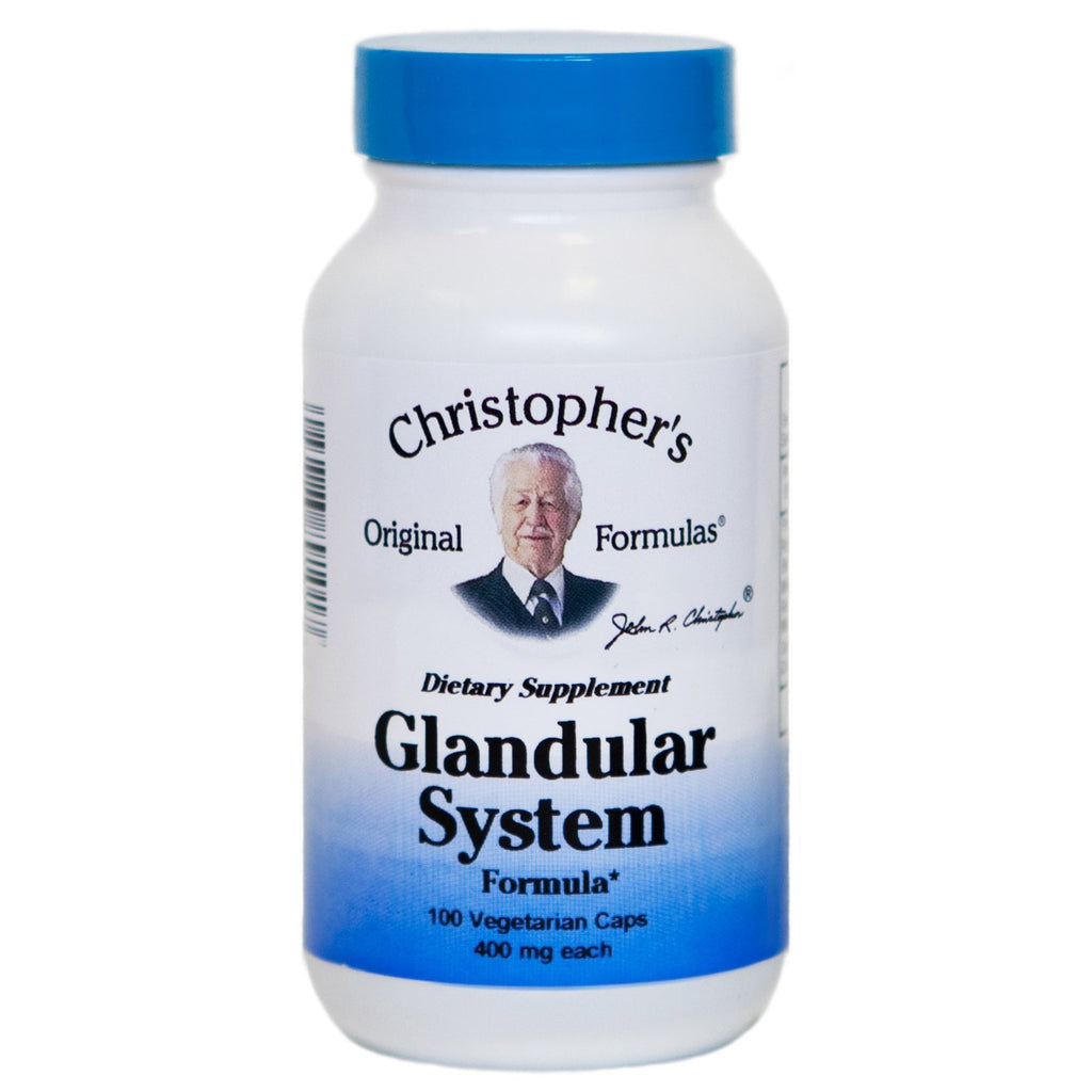 Glandular System - 100 Capsules - Christopher's Herb Shop