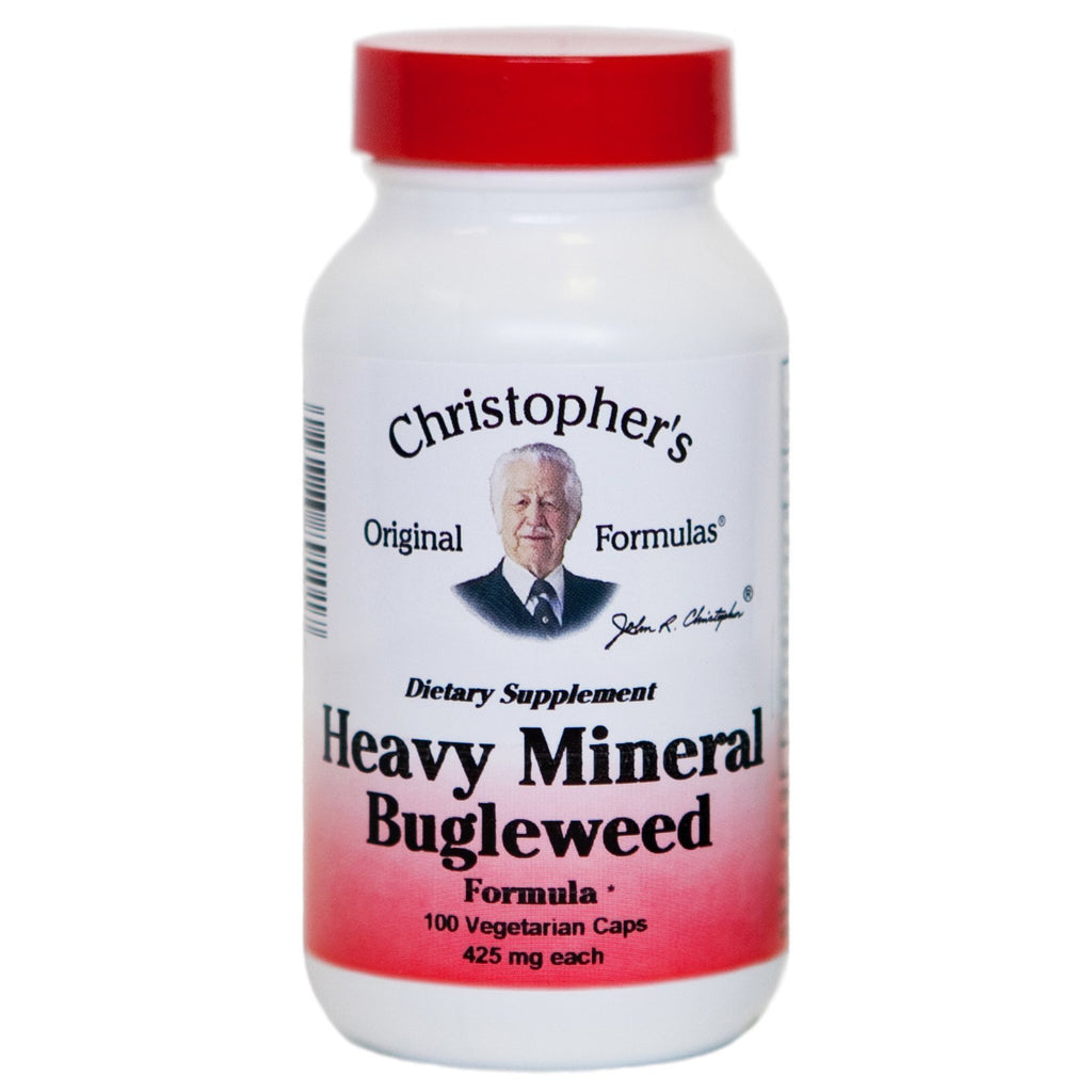 Heavy Mineral Bugleweed & Cilantro - 100 capsules - Christopher's Herb Shop