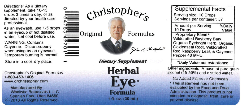 Herbal Eye - 1 oz. Alcohol Extract - Christopher's Herb Shop