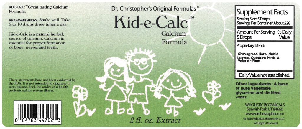 Kid-E-Calc - 2 oz. Glycerine Extract - Christopher's Herb Shop