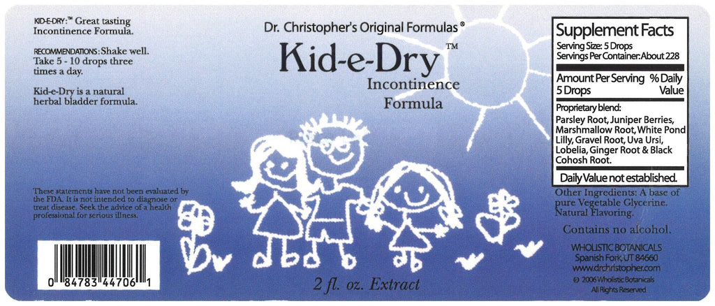 Kid-E-Dry - 2 oz. Glycerine Extract - Christopher's Herb Shop