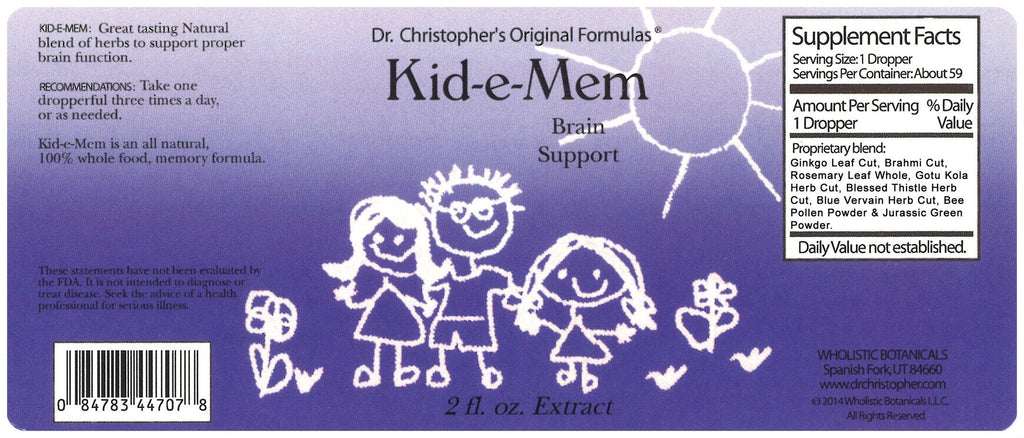 Kid-E-Mem - 2 oz. Glycerine Extract - Christopher's Herb Shop