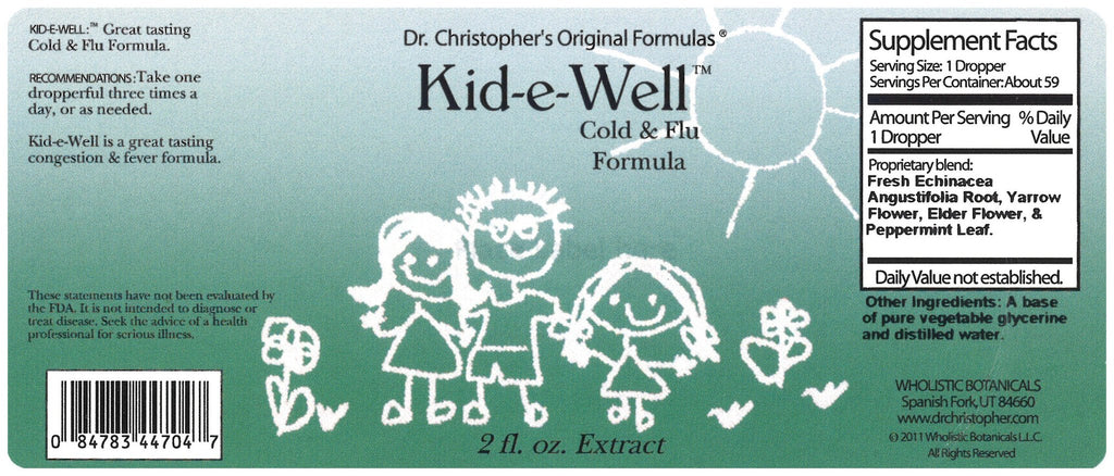Kid-E-Well - 2 oz. Glycerine Extract - Christopher's Herb Shop