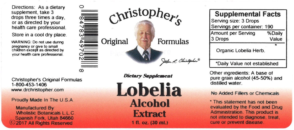 Lobelia Herb - 1 oz. Alcohol Extract - Christopher's Herb Shop