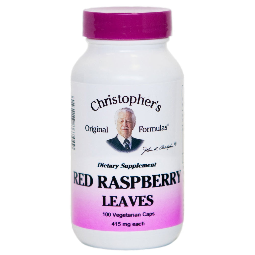 Red Raspberry Leaves - 100 Capsules - Christopher's Herb Shop