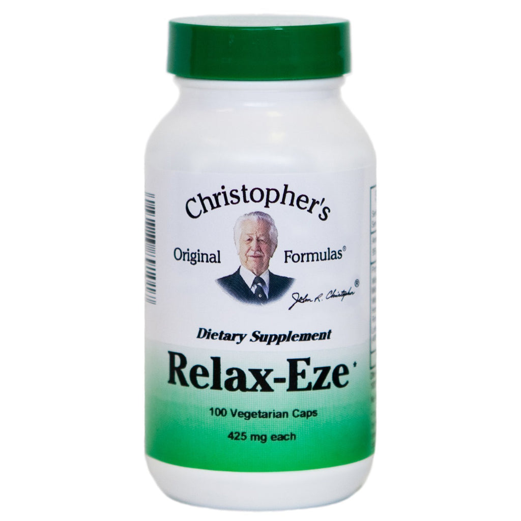 Relax-Eze - 100 Capsules - Christopher's Herb Shop