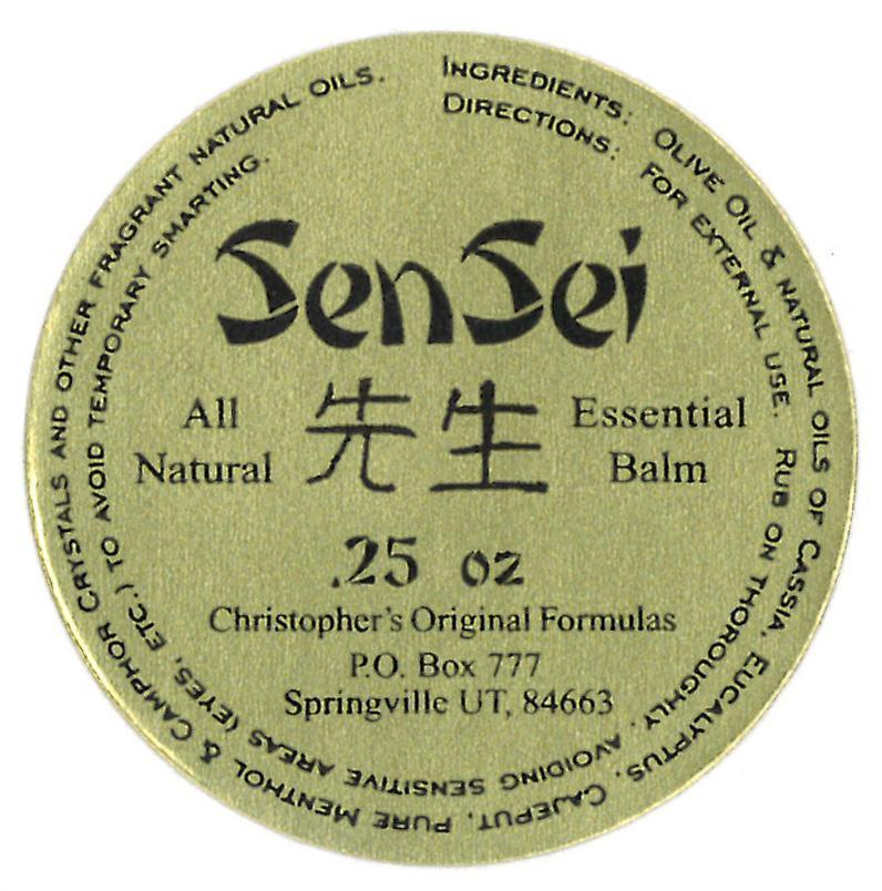 Sen-Sei Menthol Rub - .25 oz - Christopher's Herb Shop