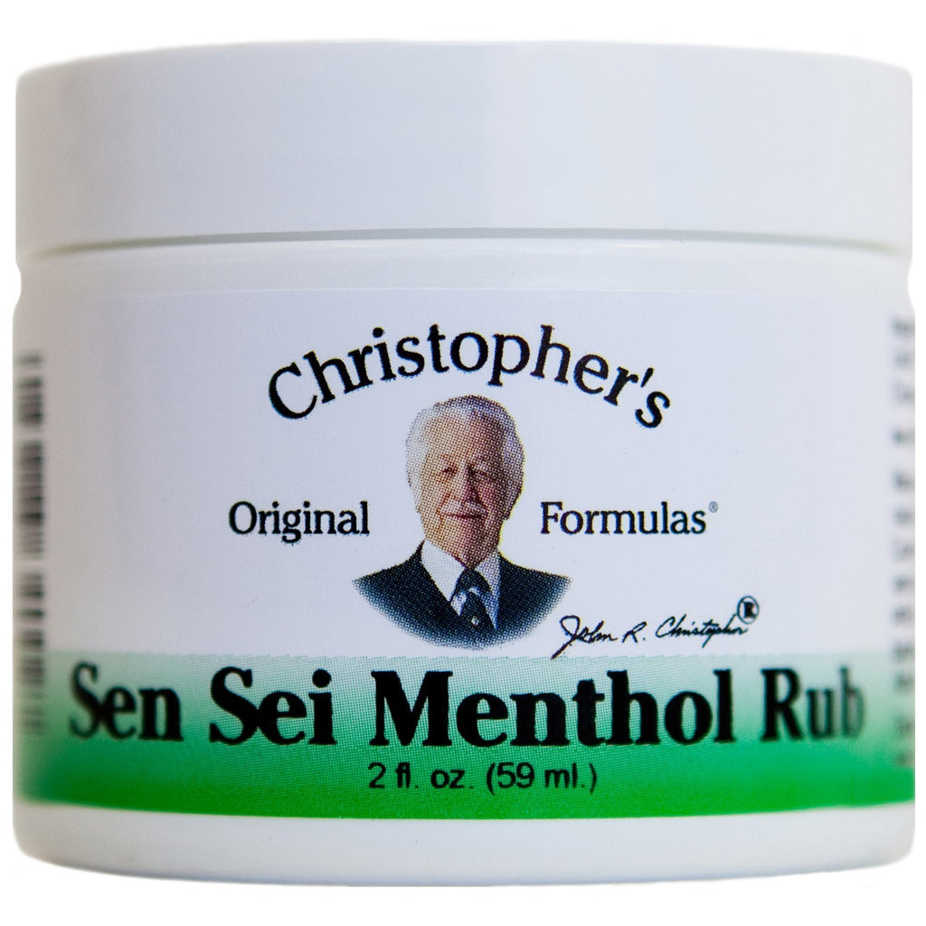 Sen-Sei Menthol Rub - 2 oz. - Christopher's Herb Shop