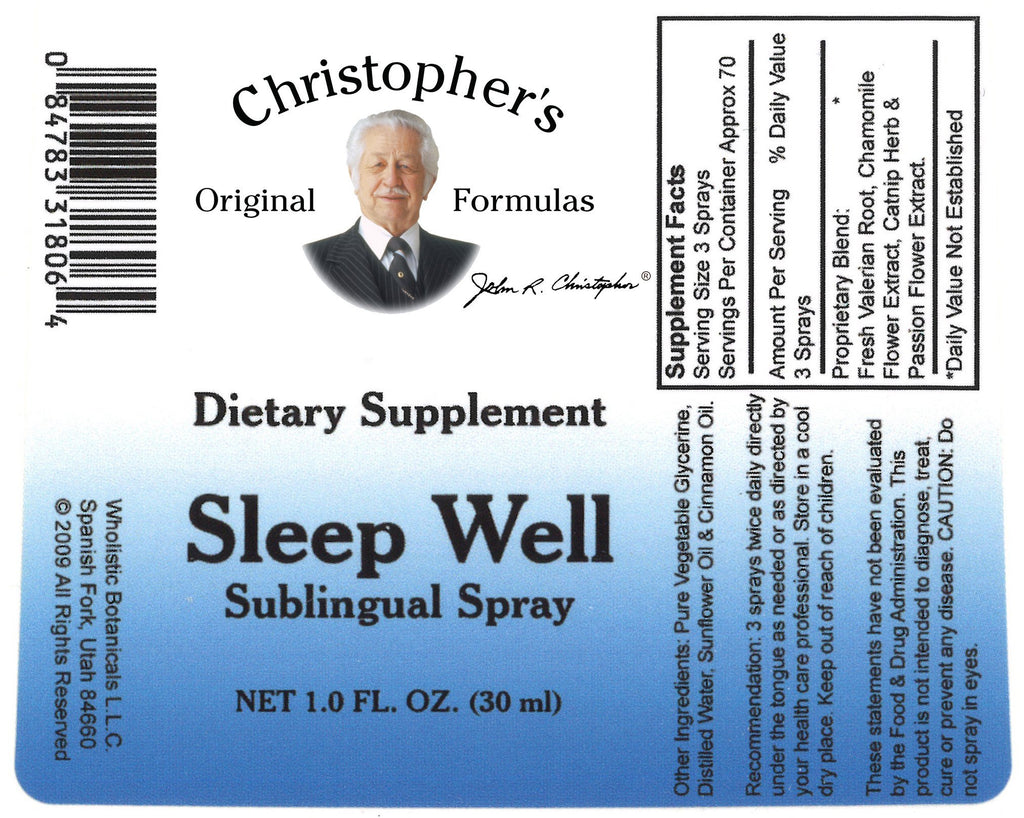 Sleep Well Spray - 1 oz - Christopher's Herb Shop